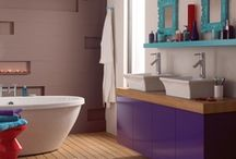 Bathroom Inspiration / Want a cool clean bathroom , or a lush modern look on contemporary #design , have a glance at Dulux' interpretation of #bathroom design with specific #colour choices referenced #colour #dulux #interior