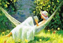 Książki i kobiety w malarstwie