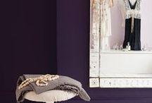 Purple / Here's a selection of our favourite purple colour schemes & all things purple #colour #design #inspiration #dulux #paint #purple