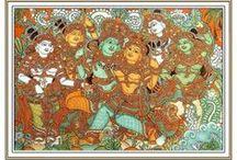 Classical Indian Painting Prints Kerala Mural / Kerala Mural Painting Prints
