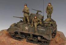 vehicules  troupes alliées 1 35 / maquette
