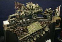 vehicules sovietiques à roues. / maquette