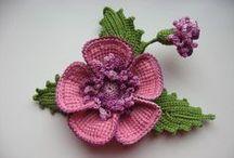 ЦВЕТЫ / Вязание цветов, листьев, букетов