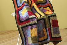 LOG CABIN & MITERED BLANKETS / Вязание пледов крючком и спицами