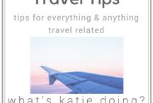 Travel tips / Travel hints and tips - including travel blogger help shared