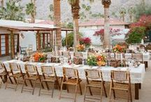 MOODY BOHO WEDDING / Palm Spring Wedding inspired by Korakia. Touches of Bougainvillea and the desert. Textures, copper, moroccan tile.