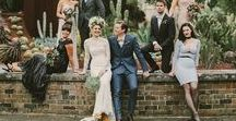 BRIDE + GROOM LOOKS / Stylish wedding looks for bride and groom. Wedding gowns and suit options for the modern couple.