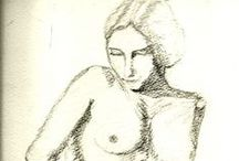 Drawings by L F Haller / Here's some drawings that I've made. Charcoal, sanguine, ink pen e tutti cuanti.