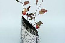 Rakuart / Verzameling van Raku gestookte keramiek creaties.