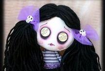 rag dolls, button eyes