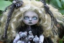 Anne Marie Gibbons Lil' Poes OOAK goth dolls and monsters / amazing horror dolls by Anne Marie Gibbons