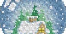 Vyšívání - zima a vánoce