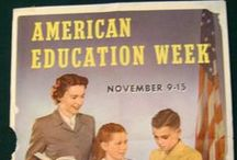 American Education Week / American Education Week is always celebrated a week prior to the week of Thanksgiving.   History -- Distressed that 25 percent of the country's World War I draftees were illiterate and 9 percent were physically unfit, representatives of the NEA and the American Legion met in 1919 to seek ways to generate public support for education.  Their solution was American Education Week, the designated week each year to spotlight education. / by Horace Mann Insurance