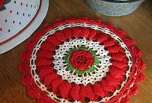 Red and white doilies / by Karen Baker