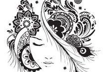 mandala doodles zentangle art