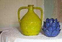 Ceramics / Céramique, pottery, jolis plats, jolis pots