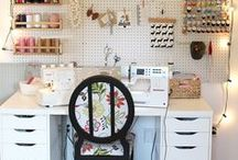 Sewing studios we love / A selection of our favourite sewing studio pictures!