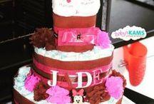 Gateau de couches filles / girls diaper cakes