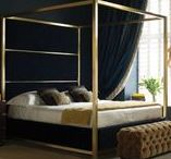 Hoxton / The Hoxton heralds a new era of modernity for And So To Bed. Conveying warmth, luxury and 'modern classic' timeless glamour, the solid brass four poster bed makes an ageless statement. Seamless joints demonstrate the ultimate perfection of detail, a recurrent theme in every piece that And So To Bed creates. The three panels on the headboard can be upholstered in almost any fabric, allowing for a completely bespoke element. Available in polished nickel and brushed brass, King to Large Emperor.