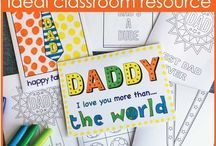 Father's Day Ideas for Kids / Kids Art and Craft ideas and printables for Father's Day