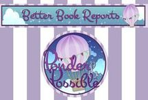Book Reports ~ Better Book Ideas! / 'Ponder & Possible' provides creative alternatives to boring book reports!