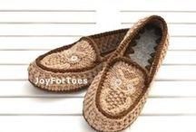 slippers knitted /crochet