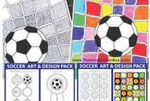 football/soccer art ideas for kids / kids soccer/football art projects, free printables templates etc