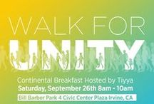 Walk for Unity / Join Tiyya's 3K Walk for Unity for a pre-event of Irvine's Global Village Festival, bringing together Orange County's community in support of global harmony and to celebrate cultural diversity.  This annual gathering takes place every September (last Saturday of the month) in the city of Irvine, CA.