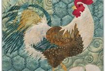 Quilt Chicken / cluck cluck sew feathers / by Mary Jo