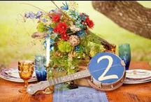 Musical Table Settings / Music themed ideas for your wedding table plan, table numbers and place settings