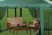 Garden Gazebos / Garden gazebos make your garden come alive! Great for all the year round both cold winter and hot summer months. Some gazebos for sale are very cheap to buy and will truly compliment your garden or wherever you install it.