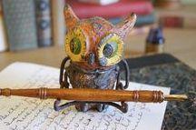 Calligraphy & Pen & Ink / Examples of fantastic pen & ink drawings, calligraphy supplies and calligraphy.