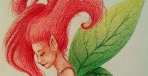 My art / Un ritaglio per i miei disegni