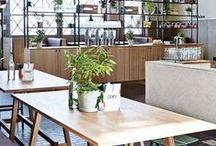Déco Restau Cafés / Carré magic agencement d'espaces professionnels : hôtels, restaurants, bar, commerces, résidences ... Décoration d'intérieur loft et atelier. Sonia M-J décoratrice d'intérieur.