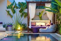 Outdoor & gardening / Carré magic agencement d'espaces professionnels : hôtels, restaurants, bar, commerces, résidences ... Décoration d'intérieur loft et atelier. Sonia M-J décoratrice d'intérieur.
