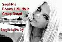 ! BEAUTY HAIR NAILS! / BEAUTY HAIR NAILS PINS ONLY! Or removal of pin and pinner & blocked