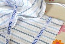 Laundry / Merk je wasgoed met labels van Nominette, en er raakt niets kwijt. Handig voor de crèche, school, vakantie, ziekenhuis, bejaardentehuis... Label your stuff with labels from Nominette so nothing gets lost. For daycare, school, vacation, hospital, elderly home etc.