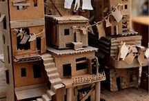 Cardboard cities, paper mache and more