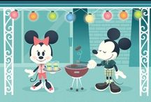 Disney Art....Mickey & Minnie, The Perfect Pair! / These pins are not exclusively mine, so feel free to pin as many as you want without fear of being blocked!