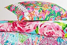 Lilly Pulitzer Home / Sharing a passion for lively prints and vibrant colors, Lilly Pulitzer and Garnet Hill teamed up to launch the first Lilly Pulitzer® Home collection in 2009. Exquisitely detailed and timeless, the line brings Lilly's distinctive Palm Beach flair and joie de vivre to the bed and bath. / by Garnet Hill