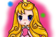 """Disney Art:: Chibi/Anime/Different Face Inspired / These pins are not exclusively mine, so feel free to pin as many as you want without fear of being blocked!   This is Original and/or Fan Created Disney Art in the """"Chibi"""", Chibi""""ish"""", different face style or Anime style."""