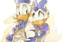 Disney Art.....Donald & Daisy / More Donald & Daisy Can Be Found On My Board, Disney Fashion: Donald & Daisy  These pins are not exclusively mine, so feel free to pin as many as you want without fear of being blocked!