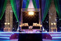 Reception stage bg inspiration / Wedding reception stage backdrop decoration inspiration