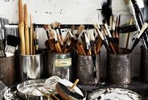 Studio Life / Workspace inspiration. Workshop inspiration. Artist studios.
