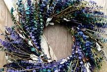 Preserved Eucalyptus Wreaths / Eucalyptus wreaths have been dyed and preserved to enhance their appearance.  All natural eucalyptus items are meant for indoor use only. Eucalyptus does have a natural fragrance that will dissipate after exposure to air.