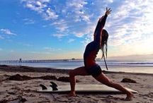Surf and Yoga / Yoga and Fitness routines like BarreShape are great preparation for surfing : strengthening your core and getting a better balance.