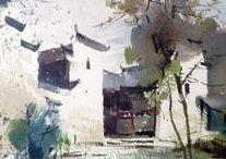 Watercolor Landscapes / Bold, dramatic, colourful scenes to quiet 'zen' landscapes. debiriley.com