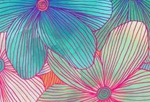 Cool Funky Art! / art that is fun and different, infused with zest! fun and bright flowers, paintings, collage, colors and designs