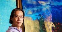 Makoto Fujimura / the abstract paintings of Makoto Fujimura