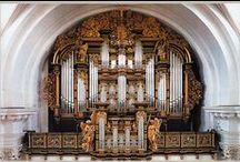 Organs of churches, cathedrals